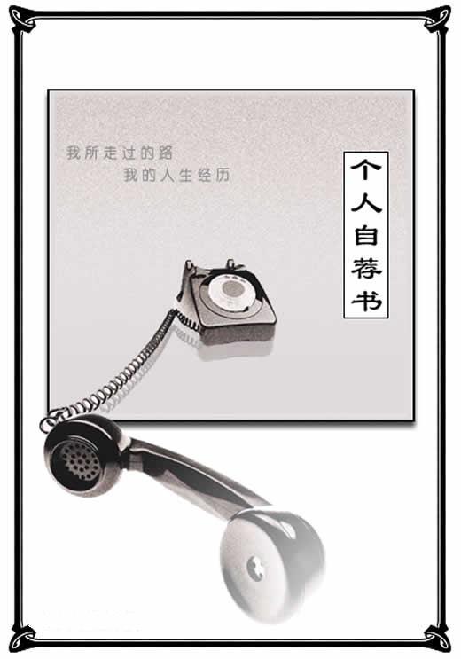 2011精美实用的简历封面