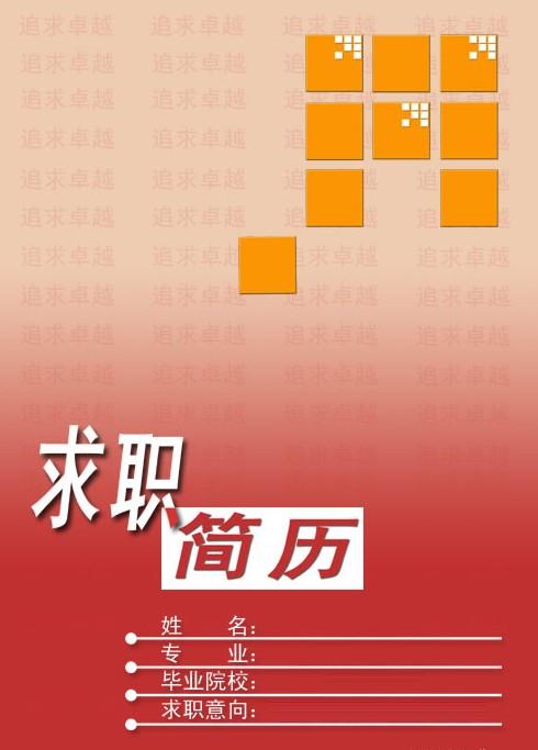 2011独特靓丽的个人简历封面