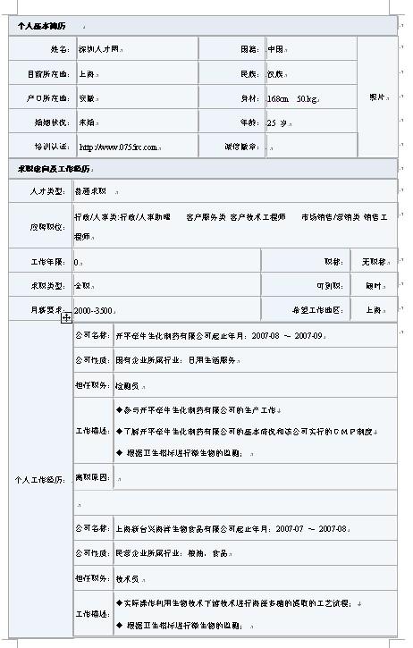 大学生就业简历模板_2011年大学生求职必选最新简历模板