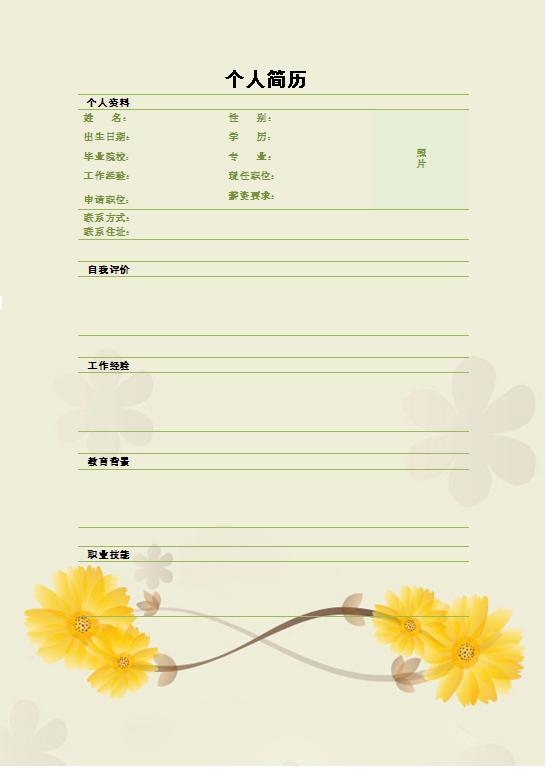2015珠宝设计个性简历表格-个人简历表格-深圳人才网