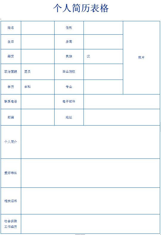普工个人求职简历表格-个人简历表格-深圳人才网0755图片