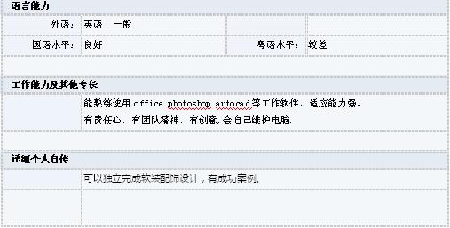 室内软装设计师表格简历-个人简历表格-深圳人贵州省建筑设计院向尊太图片