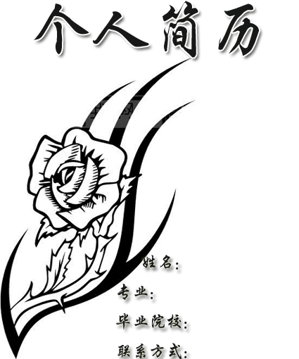 深圳人才网 个人简历 个人简历封面 正文