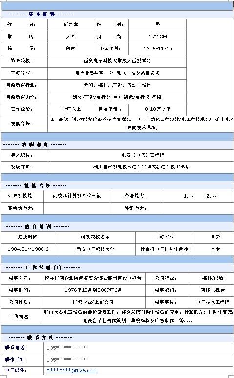 电气工程师个人求职简历模板-中文简历模板-深圳人才图片